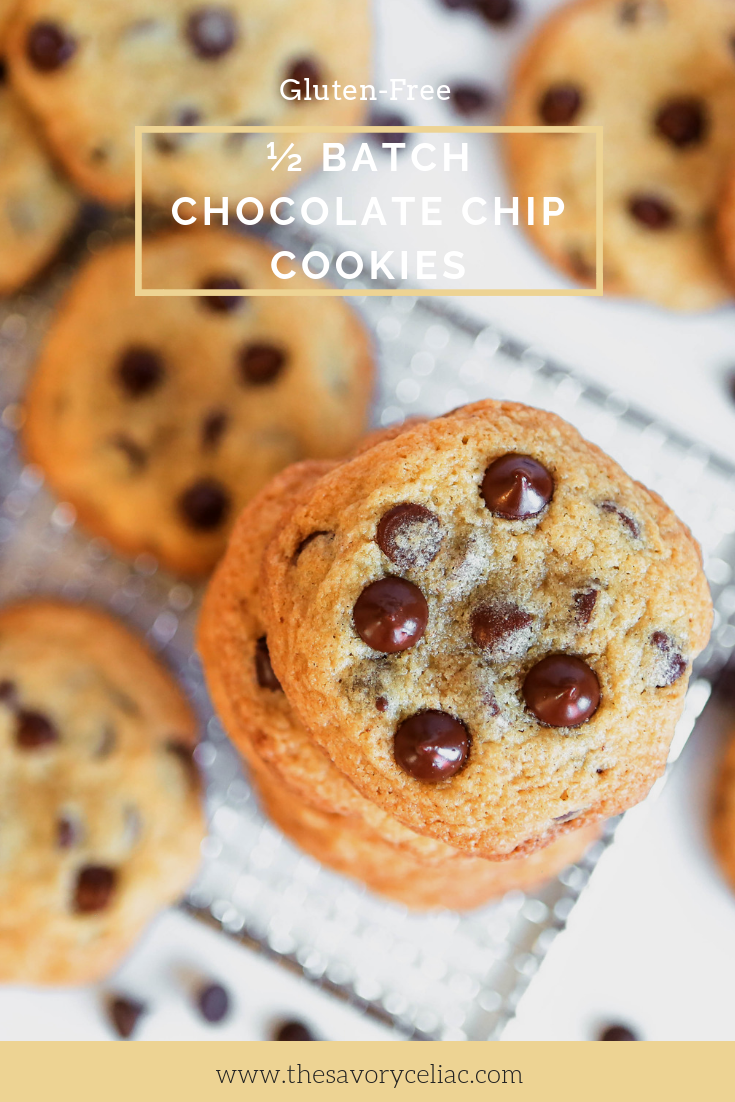 Pinterest graphic of gluten-free chocolate chip cookies.